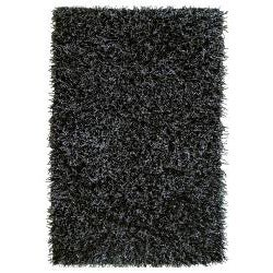 Jovi Safari Shag Black and White Area Rug (5' x 8')