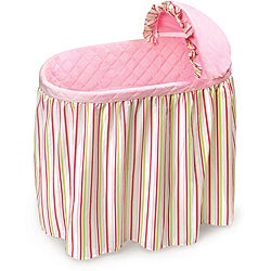 Embrace Bassinet with Striped Bedding Set