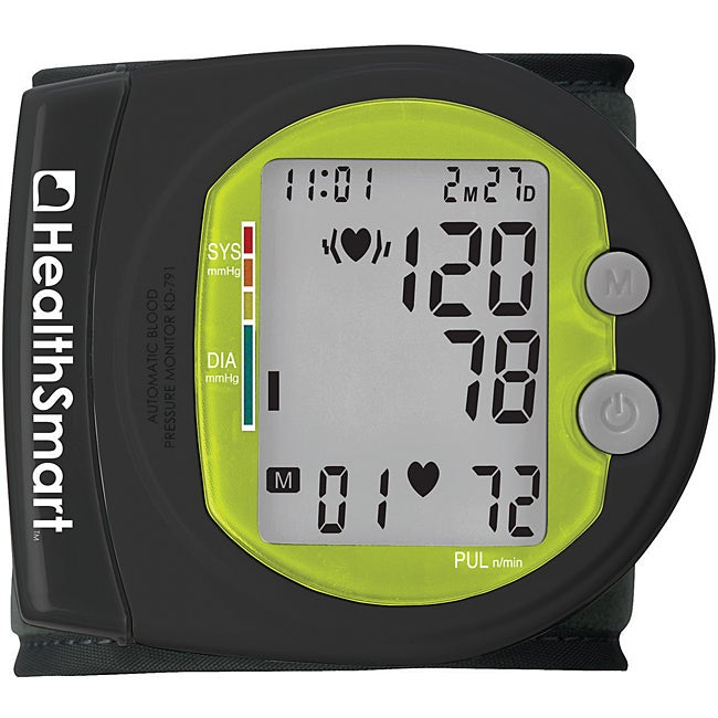 Healthsmart Sports Auto Wrist Digital Blood Pressure Monitor