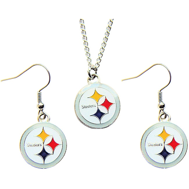 Pittsburgh Steelers Necklace and Earring Charm Set