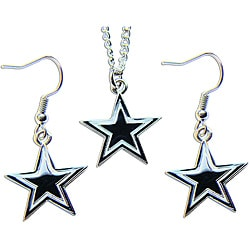 Dallas Cowboys Necklace and Earring Charm Set