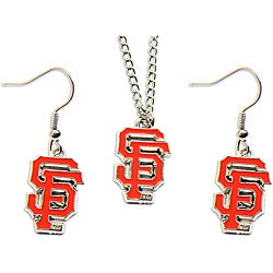 San Francisco Giants Necklace and Earring Charm Set