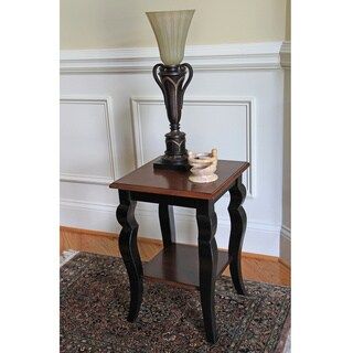 Grant Cherry Chocolate/Espresso Two-tone End Table