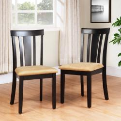 Wilmington Black Slat Back Dining Chair (Set of 2)