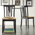 TRIBECCA HOME Wilmington Black Slat Back Dining Chair (Set of 2)