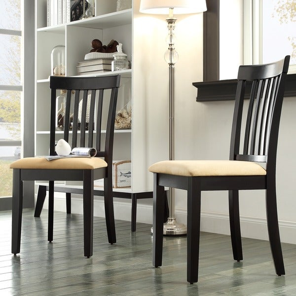 TRIBECCA HOME Wilmington Black Mission Back Dining Chair (Set of 2)