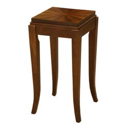 Barclay Cherry Chocolate Walnut Inlay Side Table