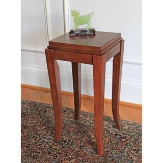 Barclay Cherry Chocolate Walnut Inlay Side Table