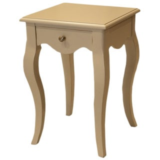 Ashley White Distressed Side Table