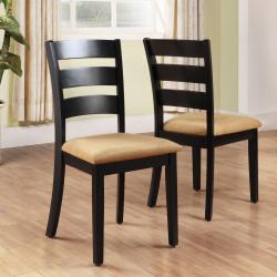 Wilmington Black Ladder Back Dining Chair (Set of 2)