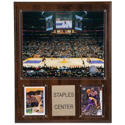 Los Angeles Lakers Staples Center 12x15 Cherry Wood Arena Plaque