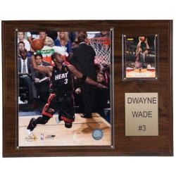 Dwyane Wade 12x15 Cherry Wood Player Plaque
