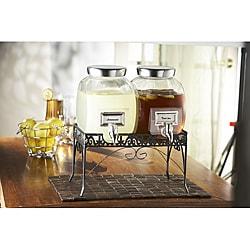 Style Setter Williamsburg 2-gallon Glass Beverage Dispenser Set