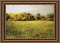 Robert Striffolino 'Field with Treeline' Framed Print Art
