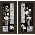 Betsy Brown 'Black & White Centerpiece I & II' Framed Print Art