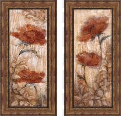 Rosie Abrahams 'Long Tall Poppies I & II' Framed Print Art