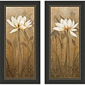 Carol Robinson 'Blossoming Lotus I & II' Framed Print Art