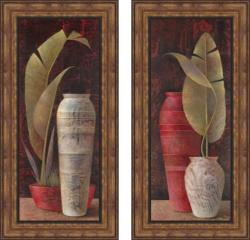 Elaine Vollherbst-Lane 'Shades of Tropics I & II' Framed Print Art