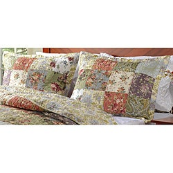 Blooming Prairie Quilted King-size Shams (Set of 2)