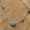 Handcrafted Stainless Steel 'Harmonious Life' Jade Necklace (Thailand)