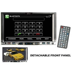 Lanzar  7'' Double Din TFT Monitor Touch Screen DVD/MPEG4/MP3/DIVX/CD-R/USB/SD/AM/FM/RDS w/Build-in Bluetooth (Refurbished)