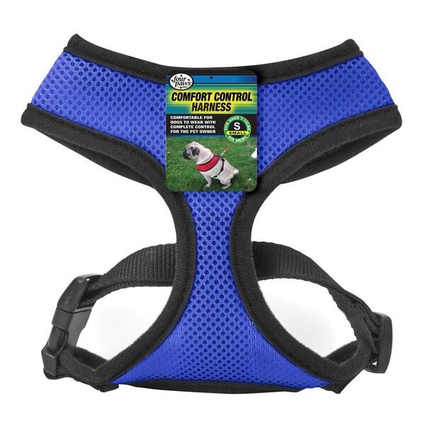 Four Paws Blue Comfort Control Mesh Harness