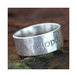 Handcrafted Sterling Silver 'Spirit of Hope' Ring (Thailand)