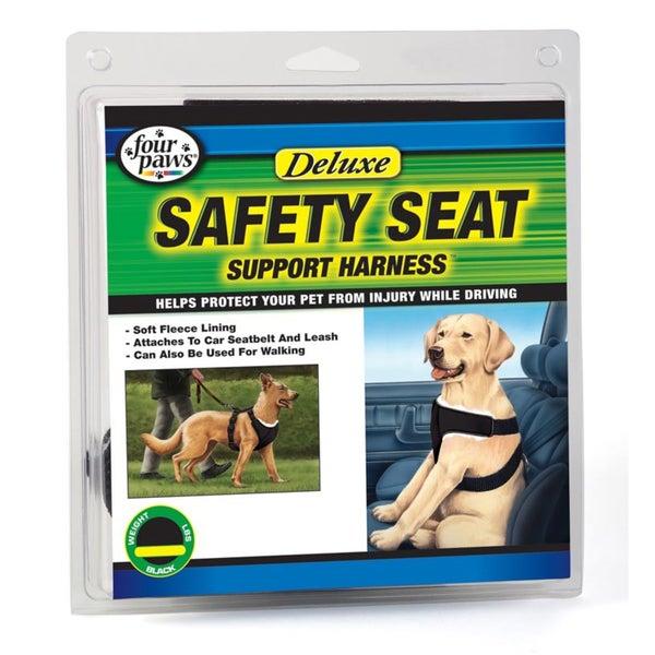Four Paws Pet Products Black Pet Safety Seat Vest