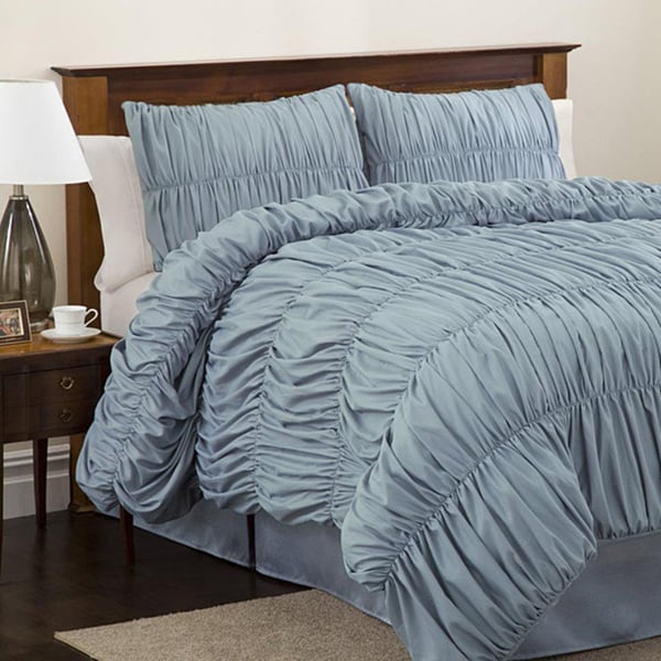 Lush Decor Blue Venetian 4-piece Full-size Comforter Set