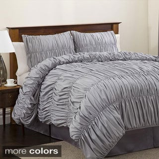 Lush Decor Silver Venetian 4-piece Comforter Set