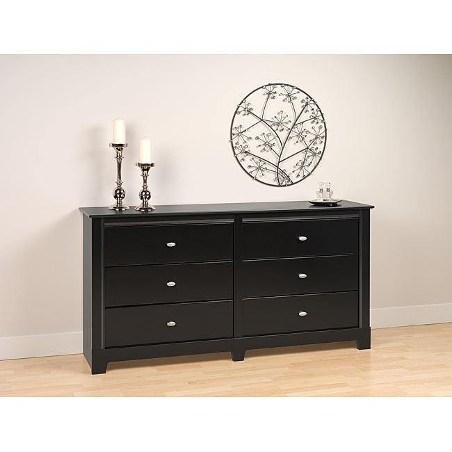 Nicola Black 6-drawer Dresser
