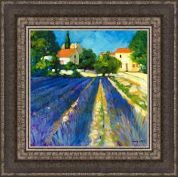 Philip Craig 'Lavender Fields' Framed Print Art