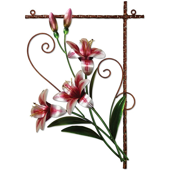Deco Breeze Metal Tiger Lily Wall Decor