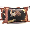 CockaDoodle Rooster-Motif Flange Pillows (Set of Two)