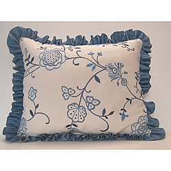Belle Embroidery Ribbon Ruffled Pillow