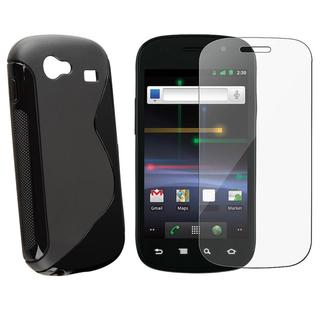 Black TPU Case/ Screen Protector for Samsung Google Nexus S