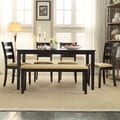 TRIBECCA HOME Wilma Black Ladder Back Cushioned 6-piece Dining Set