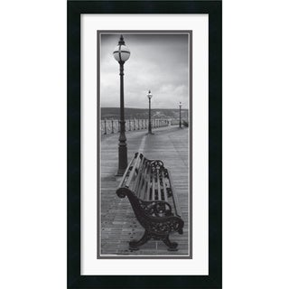 'Bench on the Boardwalk' Framed Art Print