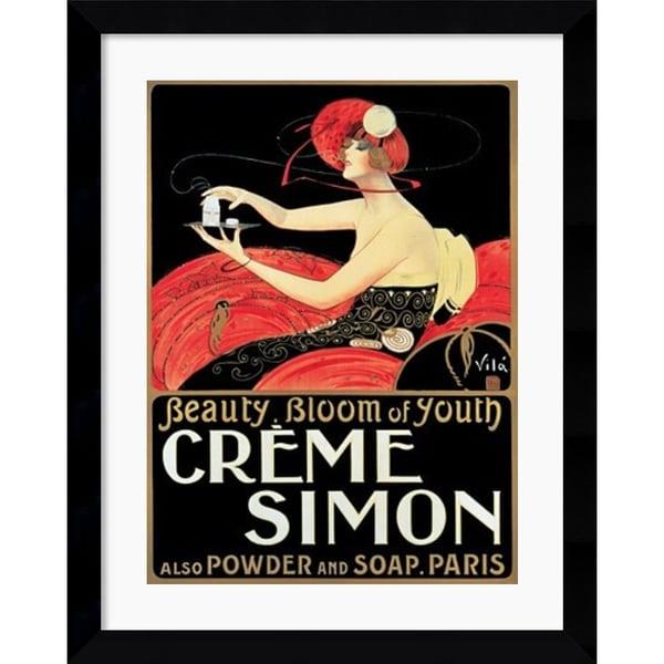 Emilio Vila 'Creme Simon' Framed Art Print