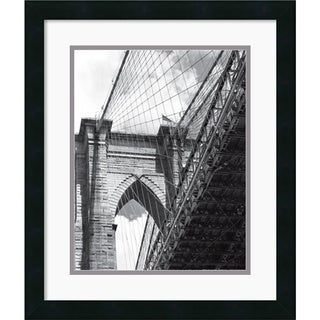 Phil Maier 'Under the Brooklyn Bridge' Framed Art Print