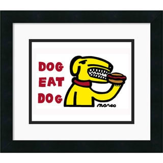 Peter Marco 'Dog Eat Dog' Framed Art Print