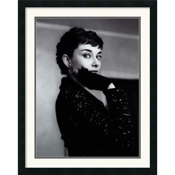 'Audrey Hepburn' Framed Art Print