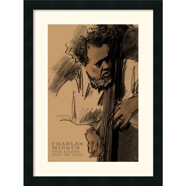Clifford Faust 'Charles Mingus' Framed Art Print