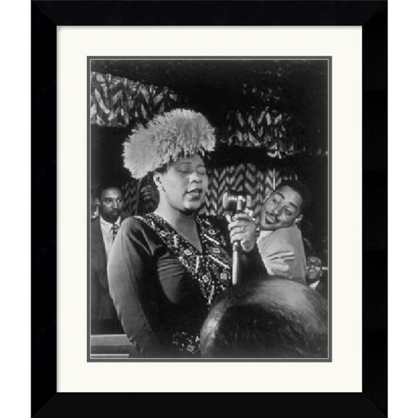 William P. Gottlieb 'Ella Fitzgerald: The Golden Age of Jazz' Framed Art Print