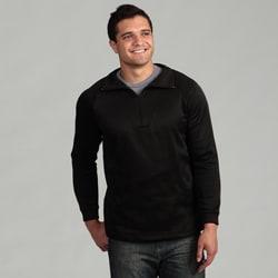 Kenyon Men's Black Fleece Zip-neck Pullover Base Layer