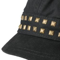 Adi Designs Women's Cotton Studded Front Military Cap