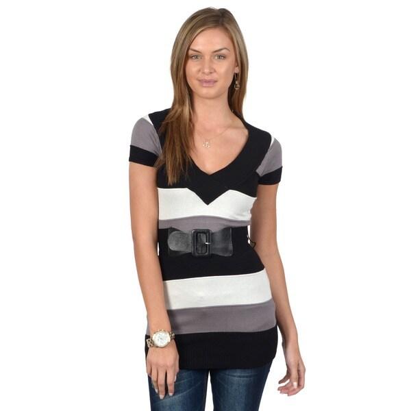 Ci Sono by Adi Juniors Striped V-neck Tunic