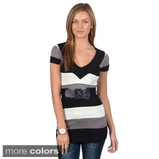 Ci Sono by Adi Juniors Striped V-neck Tunic