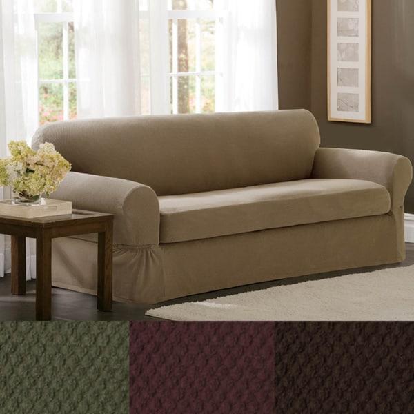 Maytex Stretch 2-piece Pixel Sofa Slipcover