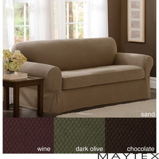 Maytex Stretch 2-piece Pixel Sofa Slipcover